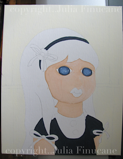 big eye girl works in progress