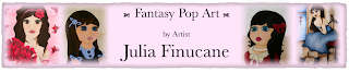 new fantasy pop art banner by artist julia finucane