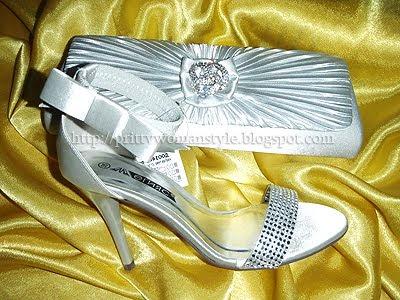 сребърни сандали с чанта плик