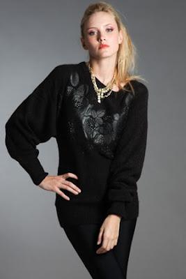 Красив пуловер с апликации
