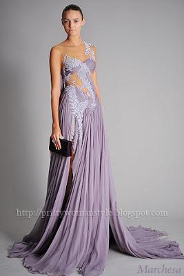 виолетова вечерна рокля
