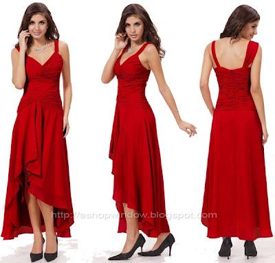 тъмночервена бална рокля