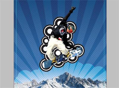 плакат сноубордист