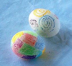 Яйца с пастели за Великден