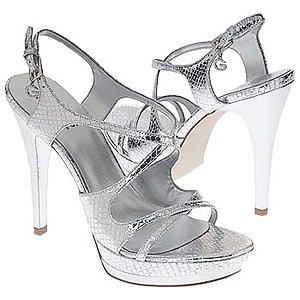 Сребърни дамски сандали