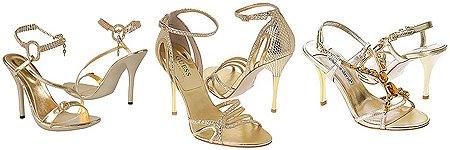 Златни дамски сандали