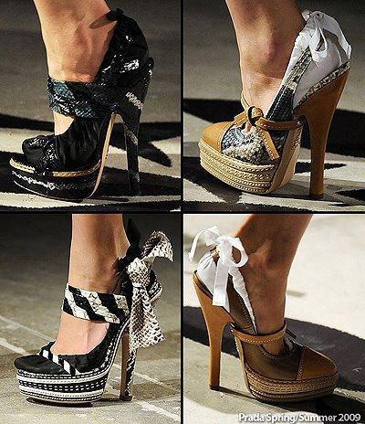 дамски сандали от змийска кожа Prada