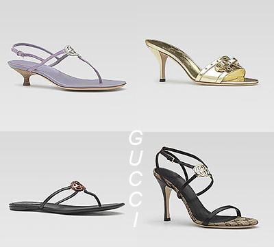 дамски сандали с каишки на Gucci
