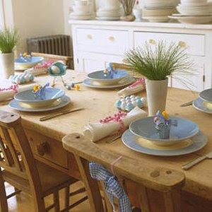 Украса за маса в синьо