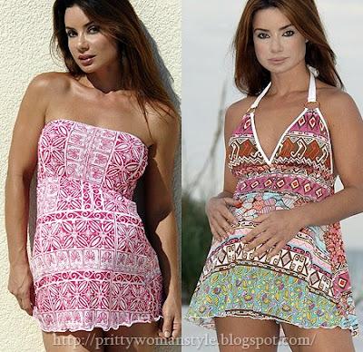 бански за бременни - плажни роклички