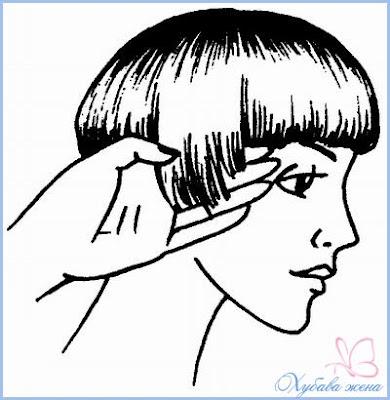 Къса прическа боб подстригване в зоната на ушите