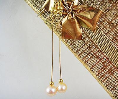 обеци с естествени перли