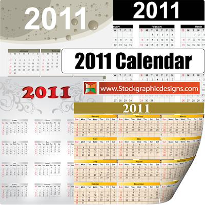 2011 Безплатни векторни календари