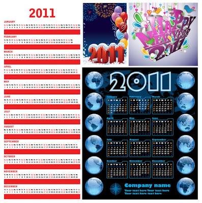 шаблони за векторни календари