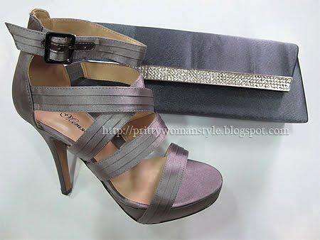 лилави бални обувки