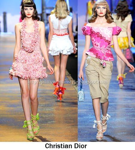 Dior - флорални принтове 2011
