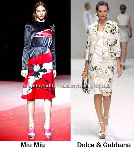 Модерни дрехи с щампи на цветя