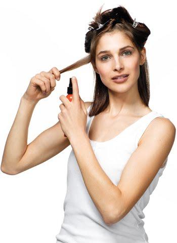 термоустойчив спрей за изправяне на коса
