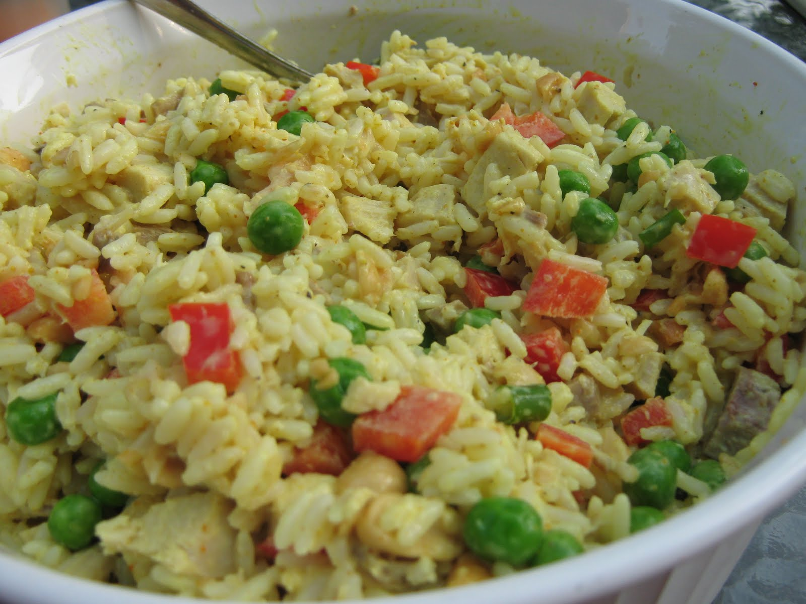 Abundance on a Dime: RECIPE: Curried Turkey & Rice Salad