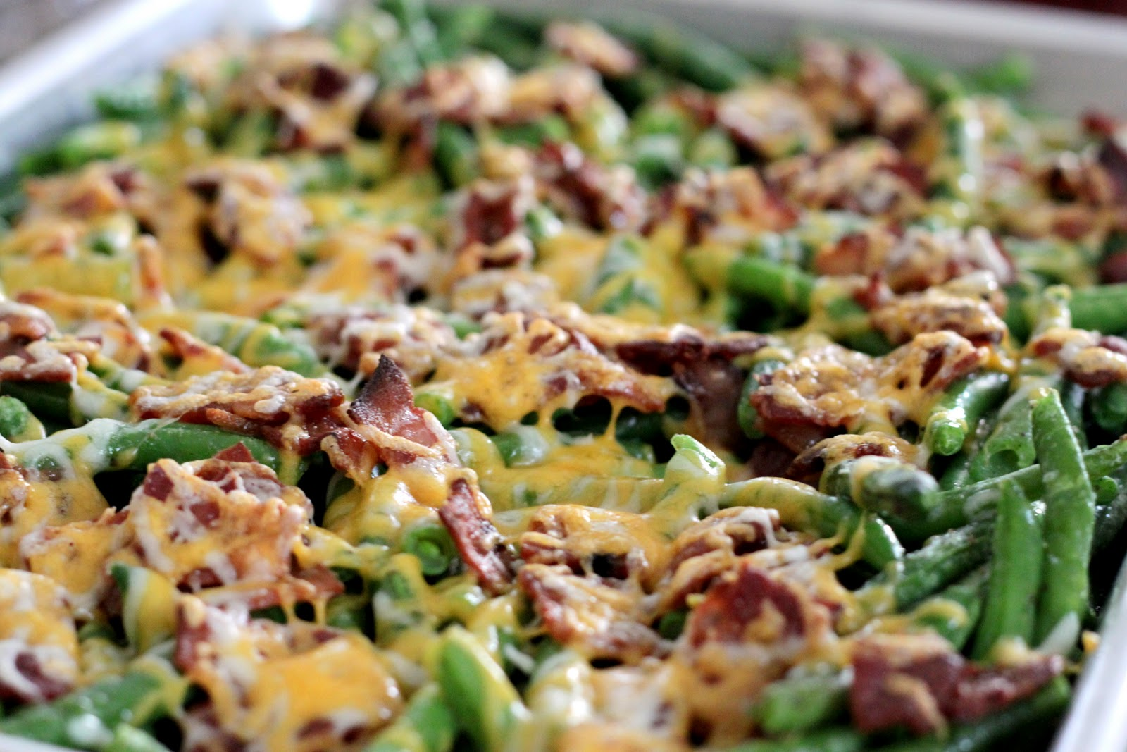 The Cook Next Door: Baked Green Beans with Bacon and Cheese