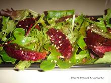 Salades d'oranges sanguines