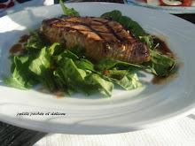 Pavés de thon grillé à l'orientale