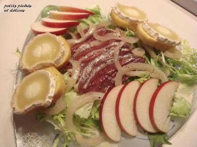 Salade de confit de canard et de chèvre chaud Salade+de+magrets+de+canard+1