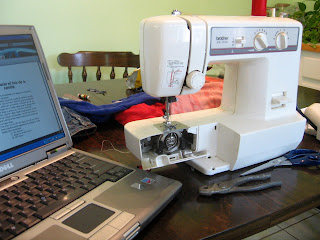Trying to use a sewing machine : Lindsay Eryn