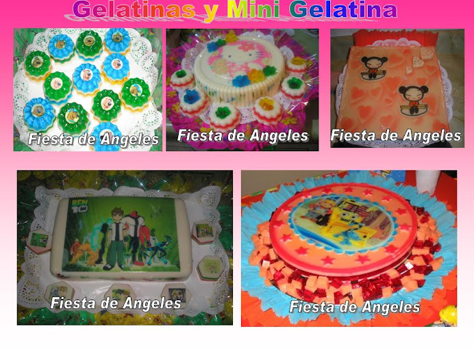 gelatina y Mini gelatinas