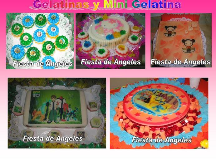 gelatina y Mini gelatinas