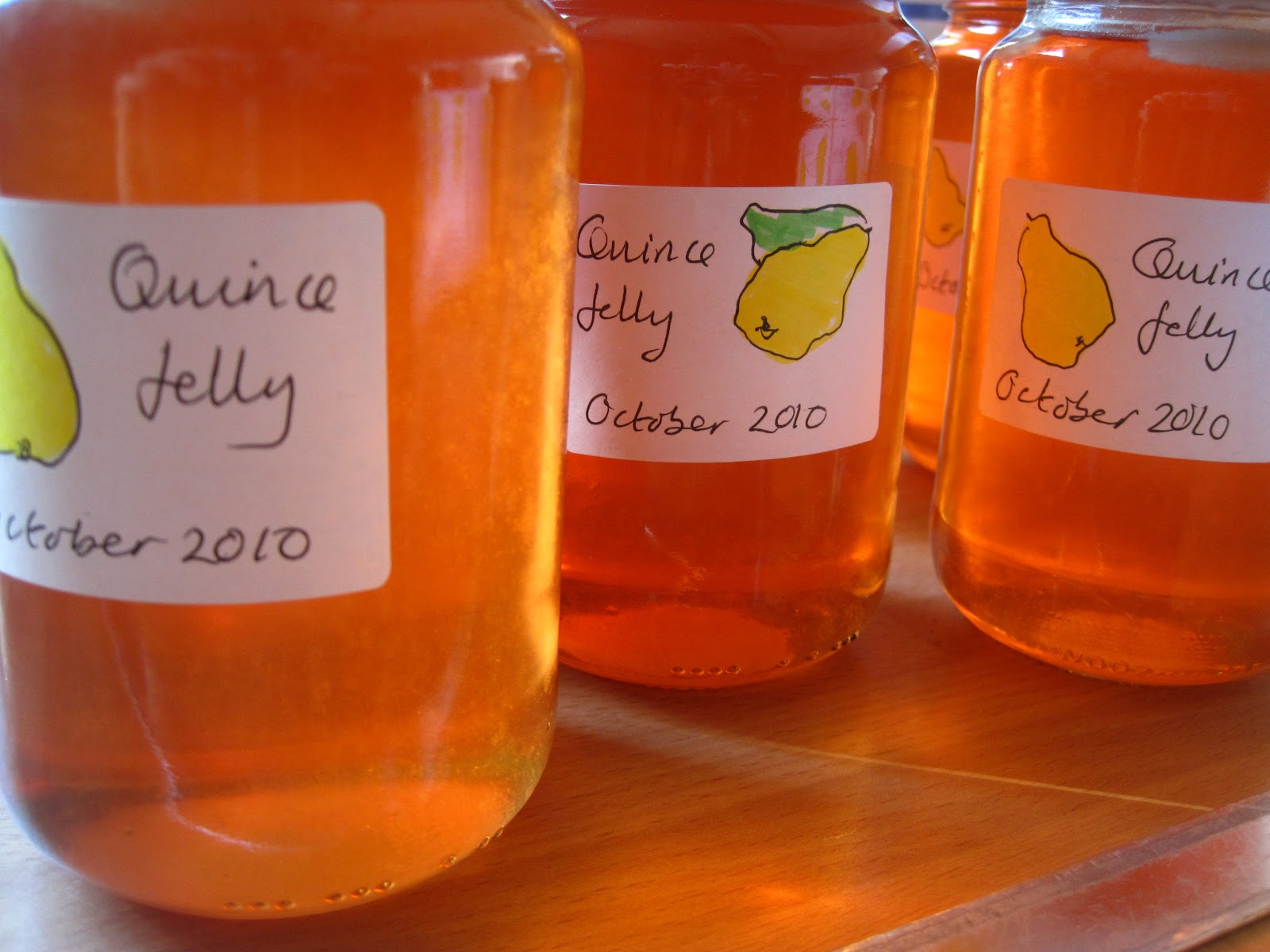 quince jelly is delicious on toast bread and butter or