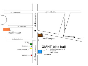 Peta Lokasi GIANT BIKE BALI
