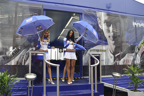 umbrella girl motogp picture 2011