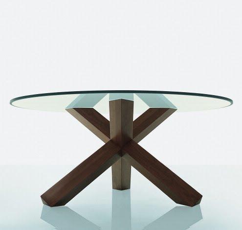 Mi casa mesas redondas for Bases para mesas de cristal