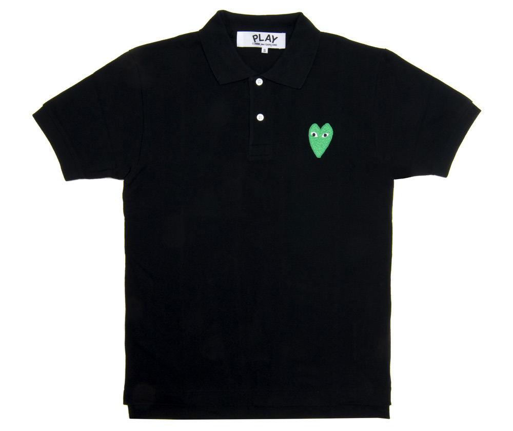 crossover comme des garcons polo tee. Black Bedroom Furniture Sets. Home Design Ideas