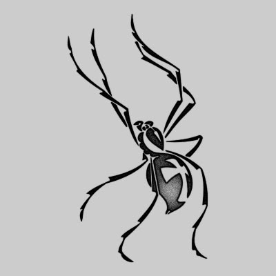 You can DOWNLOAD this Spider Tattoo Design - TATRSP24