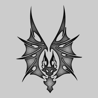 You can DOWNLOAD this Bat Tattoo Design - TATRBA19