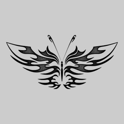 Free Tattoo Tribal Butterfly Designs