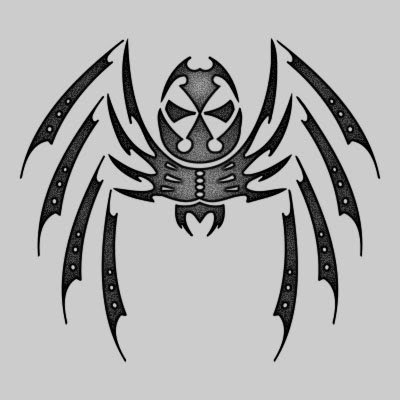 You can DOWNLOAD this Spider Tattoo Design - TATRSP04