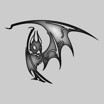 You can DOWNLOAD this Bat Tattoo Design - TATRBA13