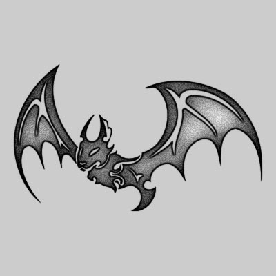 You can DOWNLOAD this Bat Tattoo Design - TATRBA03