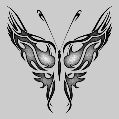 Tribal Butterfly Tattoo Designs Picture 4