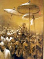 Lukisan Raja Bali,lukisan tentang keadaan umat beragama di bali,lukisan bali