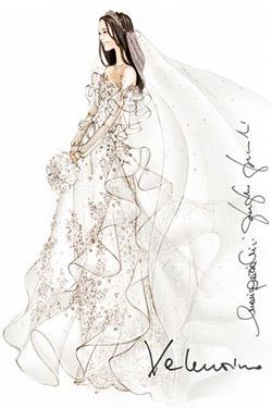 Valentino Garavani's wedding dress design for Kate Middleton
