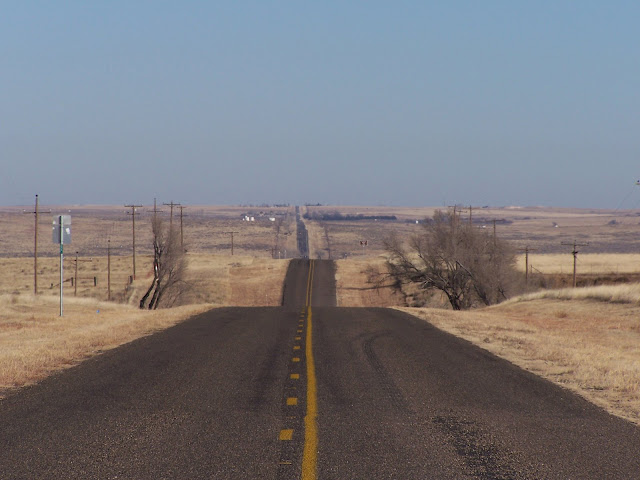 Looking back towards Darrouzett Texas