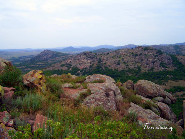 Ancient rocks of Mt Scott in Oklahoma