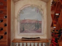 Wine Cellar Mural on Plaster