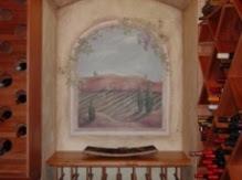 Wine Cellar Mural on Plaster