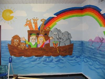 Church nursery mural ideas for Church nursery mural ideas