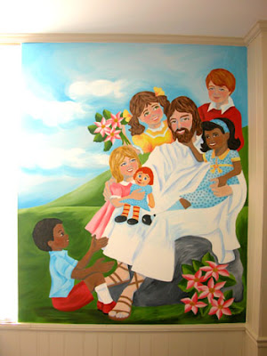 Church nursery mural ideas for Church mural ideas